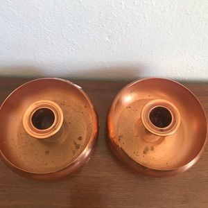Vintage Accents - Mcm taunton mass coppercraft guild candle holders